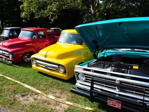 Classic Ford trucks.