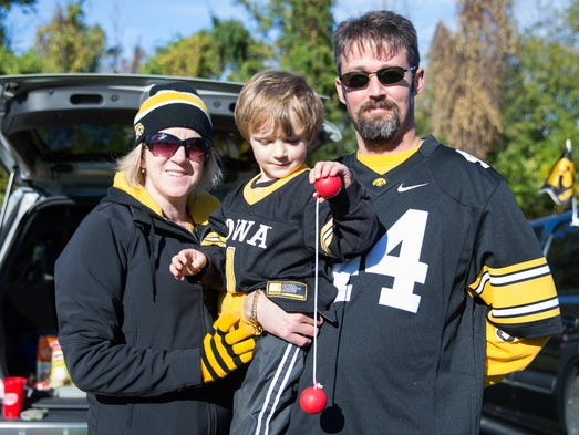 Jason Ruprecht, of Chicago, IL, and his family tailgate