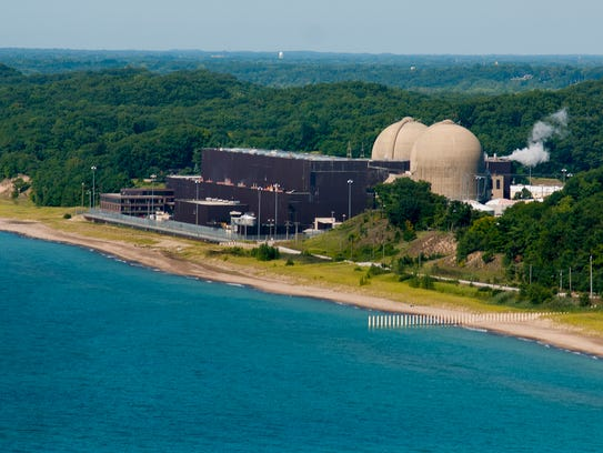 The Donald C. Cook Nuclear Power Plant near Bridgman,