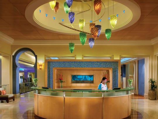 Reception area at the Madinat Jumeirah in Dubai.