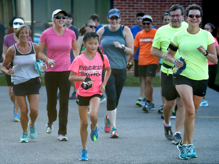 10-year-old Ari Reback of Fairport, a runner who is