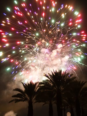 The city of Palm Desert hosts a Fourth of July celebration with music and fireworks at Civic Center Park on Wednesday evening, July 4, 2012.
