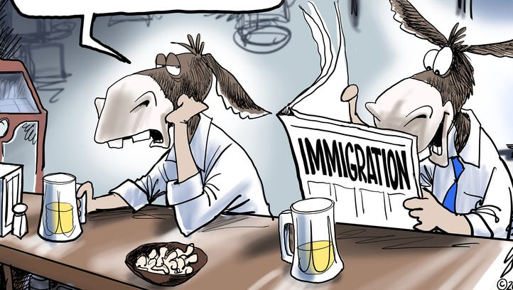 Cartoonist Gary Varvel: Democrats' view of immigration