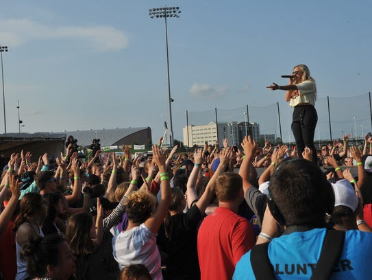 Hollyn performs at the first ever CityFest Saturday