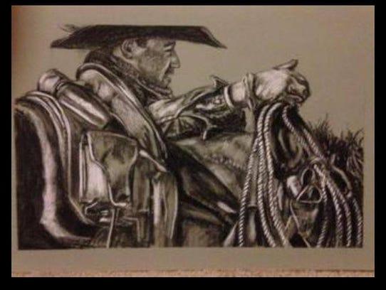 An original framed artwork by artist Maria Hamilton