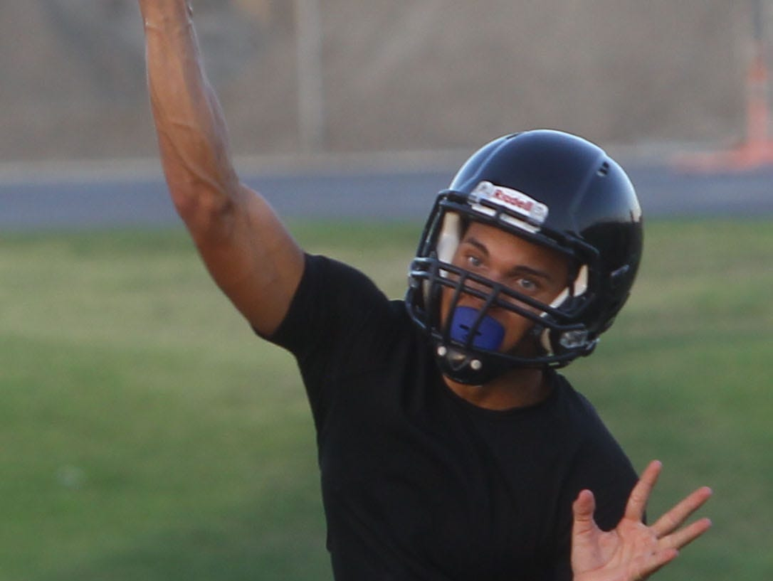 Cathedral City High School football practices for they 2016-2017 season in August.