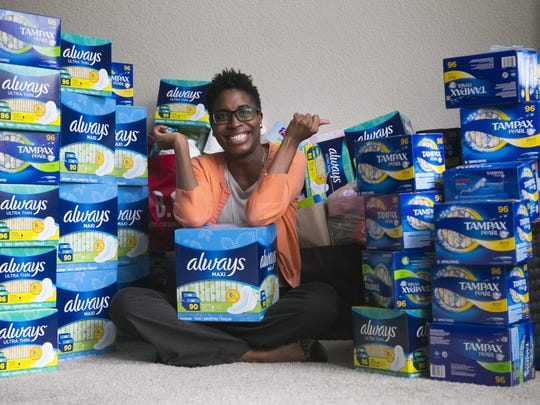 Demetra Presley works to get feminine products to low-income and homeless girls.