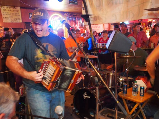 A zydeco band plays at Fred, a little bar famous for