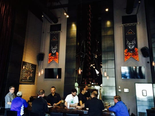 The taproom at ROAK Brewing Co. in Royal Oak, which opened in 2015, stands out with bold interior design and good-tasting craft beers.