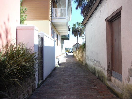 Treasury Street is one of the oldest streets in St. Augustine, Fla.