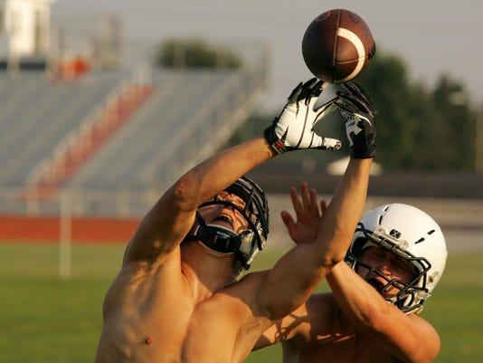 Ridgewood High School football practice
