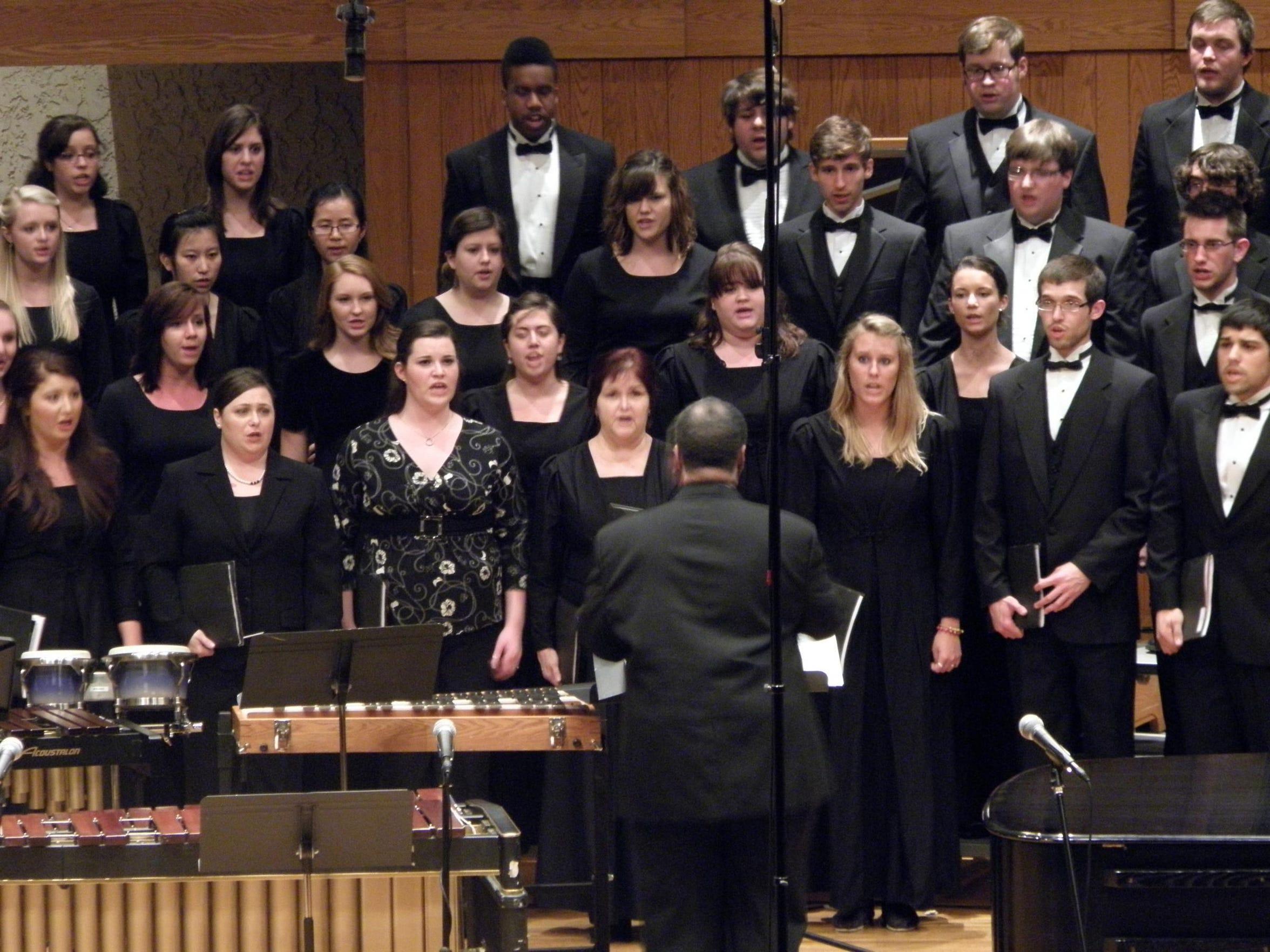 The MTSU Concert Chorale, MTSU Schola Cantorum and