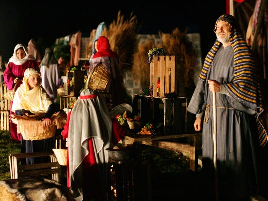 A drive-thru nativity is a regular holiday event at the Coshocton Christian Tabernacle.