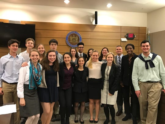 For the second year in a row, Wilmington Friends won the Delaware Mock Trial competition.