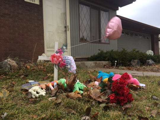 A makeshift memorial is set up Nov. 24 at the Oxford