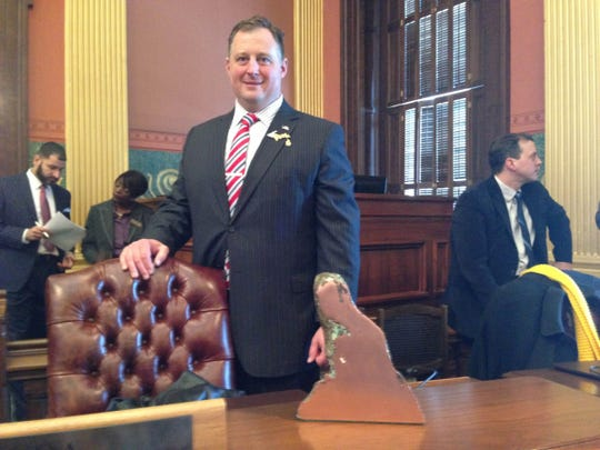 State Rep. Scott Dianda, D-Calumet, keeps a 15-pound chunk of copper on his desk as a reminder of what's important to the Upper Peninsula.