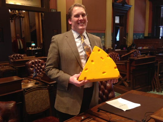 State Rep. Ed McBroom, R-Vulcan, in the Upper Peninsula (near the border of Wisconsin) is a big Green Bay Packers fan and his cheesehead often goes missing during the football season.