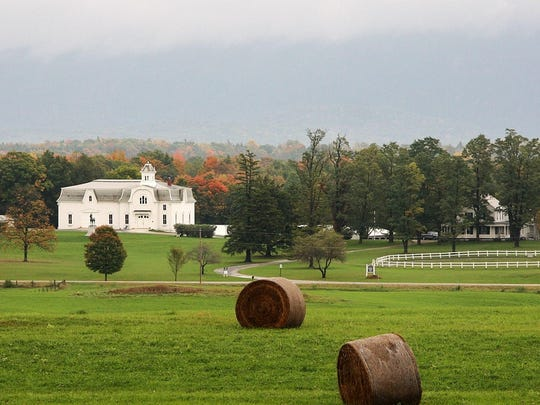 An autum view of the Morgan Horse Farm in 2013.