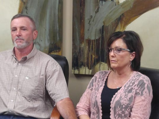 Parents of Brad Moore, who died following a stolen truck chase through Phoenix, speaks about notice of claim fired for a wrongful death on Monday.