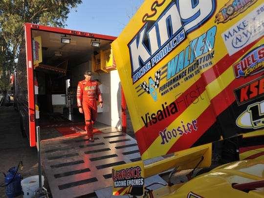 BR Motorsports' Blake Robertson at Keller Auto Speedway at Kings Fairgrounds in Hanford on Sept. 17.
