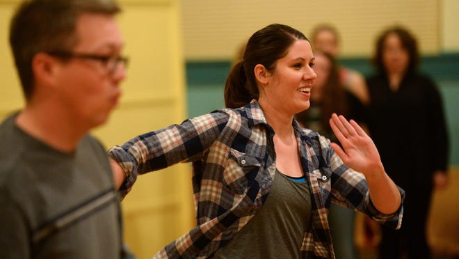 """Amber Henning rehearses for the Miss Linda Productions production of the """"White Christmas."""" Henning, who is originally form Fairfield, is an attorney who continues to utilize her dance skills."""