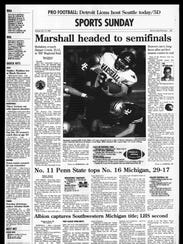 BC Sports History: Week of Nov. 17, 1996