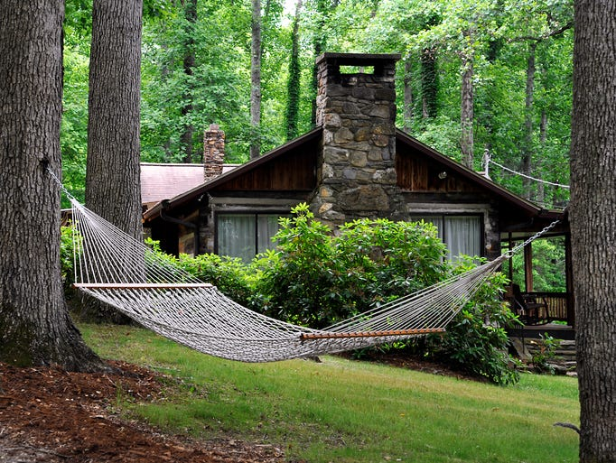 Asheville Cabins of Willow Winds, a vacation cabin resort nestled among 40 acres of forested mountains in South Asheville. 06/03/2014--Bill Sanders