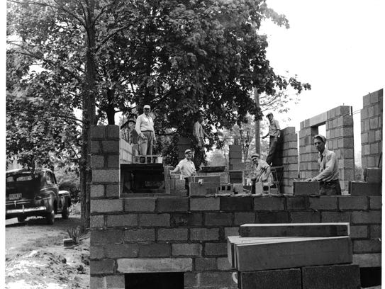 A 1952 photograph of the Maple Avenue location of the