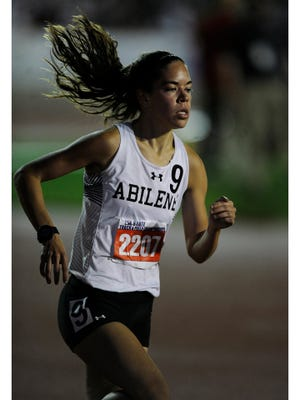 Abilene High's Ashton Endsley (2207) runs in the Class 6A girls 1600m during the UIL State Track and Field Championships on Saturday, May 13, 2017, at Mike A. Myers Stadium in Austin. Endsley finished the race in third with a time of 4:50.17.