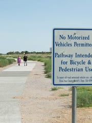 The Rio Grande Trail at La Llorona Park would be connected to the Out Fall Channel Trail that runs under Main Street if a bond supporting the project is approved by voters.