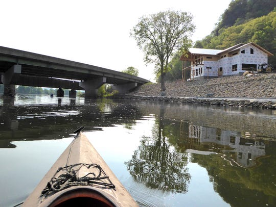A kayak's-eye view shows the Driftless Area Education