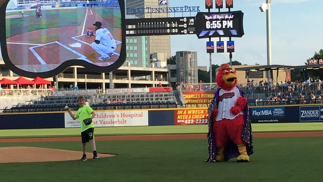 Grafton Graves threw the first pitch of the Nashville Sounds game on Tuesday, June 14th at First Tennessee Park.