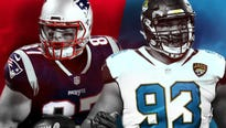 Patriots seek shot at sixth Lombardi, while Jaguars want first. Vikings hope to snatch home field by beating Eagles on road.