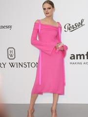 Hanne Gaby Odiele arrives at the amfAR Gala Cannes
