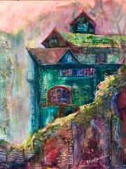 "Artist Joan Pechanec, ""A Step Beyond"" exhibit."