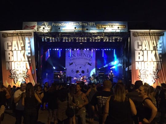 New York Front and Smack Daddy will play at  Event Field, while Lazy Bonez plays on the stage near Dixie Roadhouse during Bike Night on April 8.