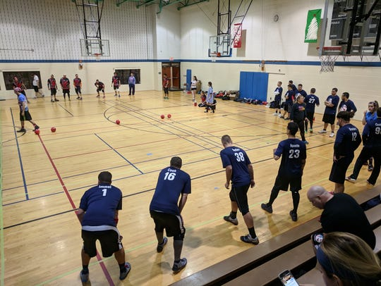 The USA dodgeball team prepares for the dodgeball world