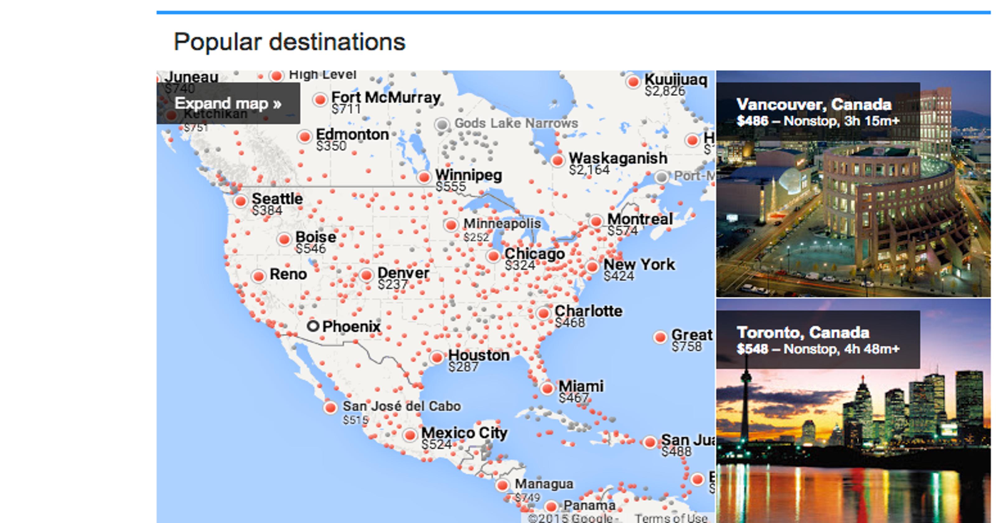 google flights improves its travel search website. Black Bedroom Furniture Sets. Home Design Ideas