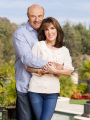 Robin and Dr. Phil McGraw photographed at their home