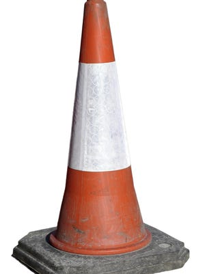 Road construction cone (with clipping path)