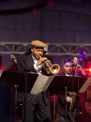 Wynton Marsalis with the Jazz at Lincoln Center Orchestra.