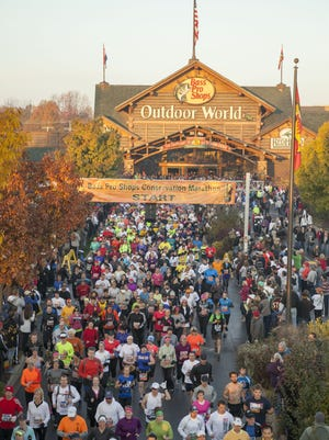 A view of Bass Pro Marathon runners in 2012.