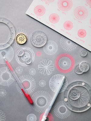 Some of the swirly patterns you can produce look almost like embroidery or lace, while others are more boldly graphic.