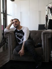 Celebrity clothing designer Michael Costello at his