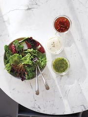 Refrigerate vinaigrette in an airtight container for