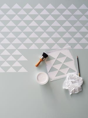 Using this staggered triangle pattern will give any kitchen or room a modern, fresh update.