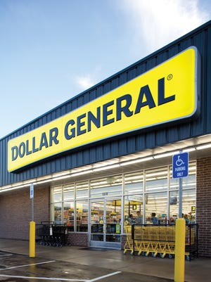 The exterior of a typical Dollar General.