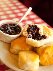Biscuits and jam at Loveless Cafe.
