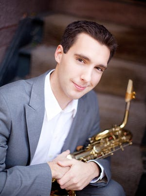 Rochester native baritone saxophonist Karl Stabnau performs June 28 at Central Library of Rochester and Monroe County at noon, free.