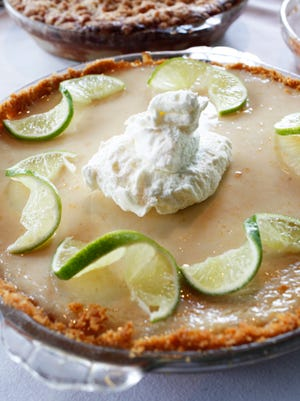 Key lime pie with fresh whipped cream made by Dominic Serratore, who is the chef and co-owner of Ditto's Grill.
